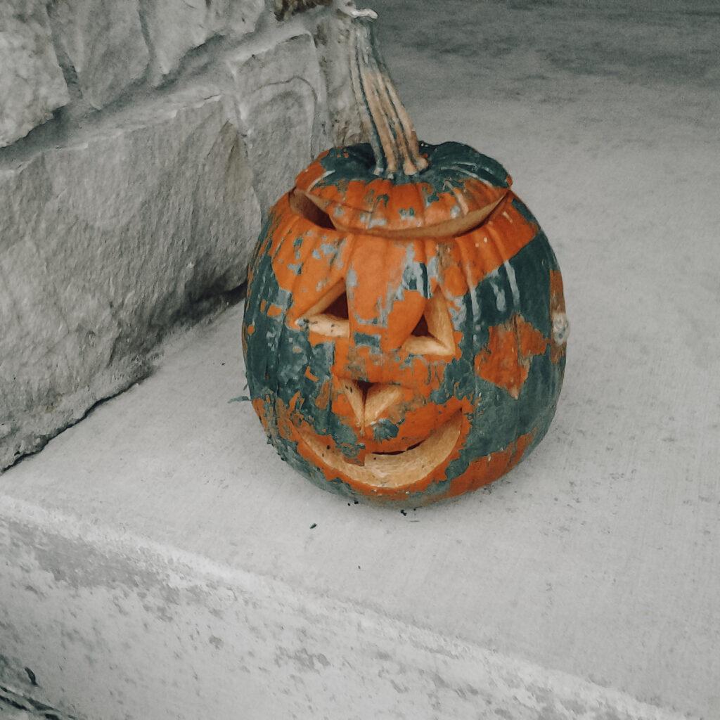 painted pumpkin for Christian Halloween Ideas