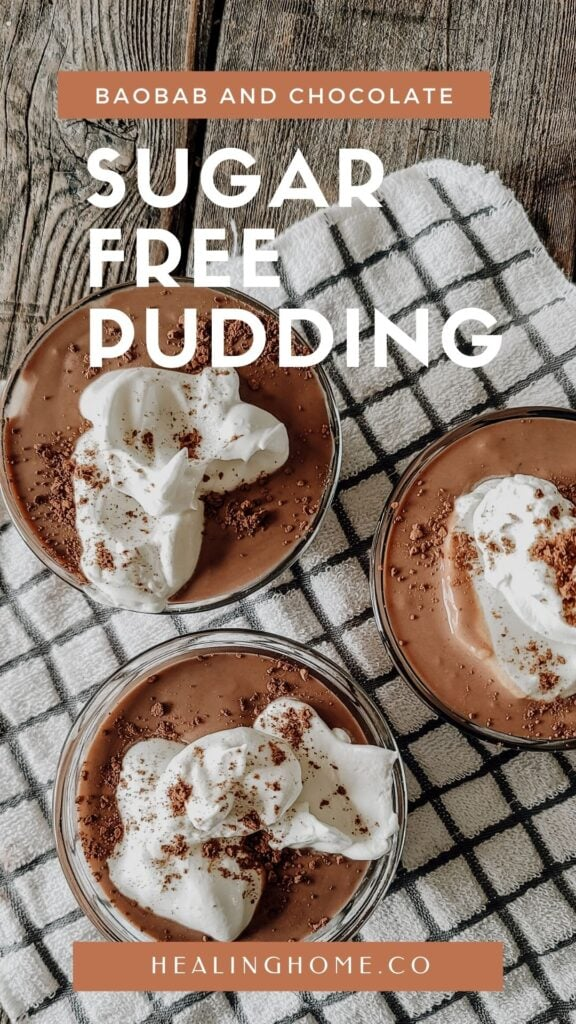 sugar-free pudding for pinterest