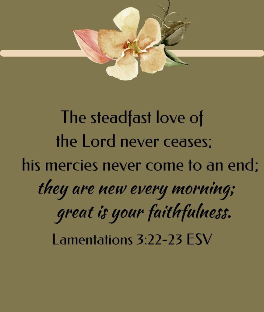 inspirational morning bible verses